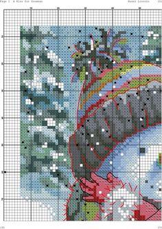 Snowman kiss cross stitch 4