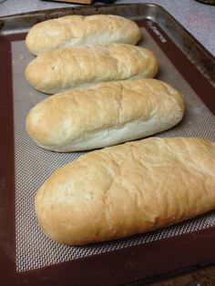 BabyBakes: Hoagie Rolls Not to self - not bad for cheesesteaks. Try adding a little more salt next time.