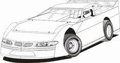 Image Result For Late Model Race Car Coloring Book