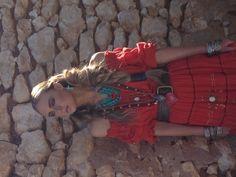 Red gypsy dress fashion in Adelaide hills magazine
