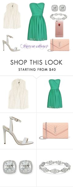 """""""Party for Alicia's Cousin Nini"""" by massieblock2003 on Polyvore featuring DKNY, Yves Saint Laurent, Frederic Sage and ETUÍ"""
