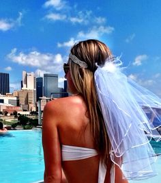 Rather have a veil like this for my Bachelorette party maybe we could make it