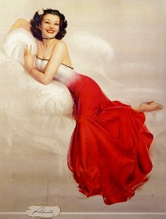 """""""Adorable"""" by Rolf Armstrong"""