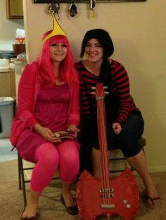 Marceline and pb costumes #adventuretime