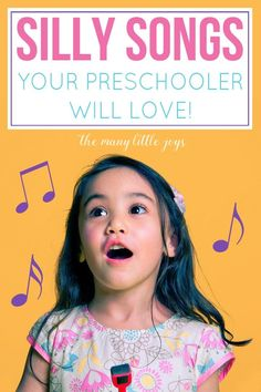 Silly songs your preschooler will love Music is a great way to help kids develop language, motor, and memory skills. Here are eight silly songs that your preschooler is sure to enjoy, and that will make you giggle right along with them. Preschool Songs, Preschool Learning, Toddler Preschool, Movement Songs For Preschool, Preschool Circle Time Songs, Transition Songs For Preschool, Music Activities For Kids, Kindergarten Songs, Movement Activities