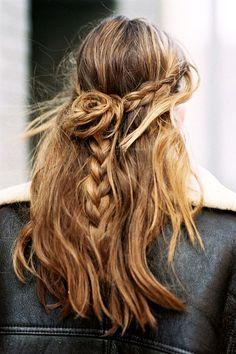 3 Le Fashion Blog 21 Braid Ideas For Long Hair Half Up Bun Wavy Braided Hairstyle Via Vanessa Jackman