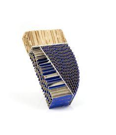 Ritsuko Ogura - Product code: ROG11 - Brooch - Unique piece - Cardboard, silver, acrylic colour - 920€