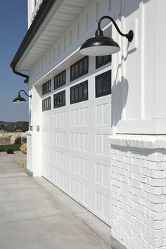 Modern farmhouse exterior garage.