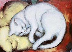 Schöne Fraun mit schönen Katzen || Schöne Fraun und Katzen pflegen  Häufig Freundschaft, wenn sie gleich sind,  Weil sie weich sind  Und mit Grazie sich bewegen. // Weil sie leise sich verstehen,  Weil sie selber leise gehen,  Alles Plumpe oder Laute  Fliehen und als wohlgebaute  Wesen stets ein schönes Bild sind. // Unter sich sind sie Vertraute,  Sie, die sonst unzähmbar wild sind. // Fell wie Samt und Haar wie Seide.  Allverwöhnt. – Man meint, daß beide  Sich nach nichts, als danach…