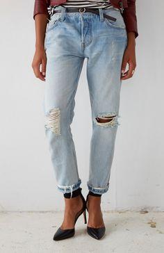 ba12d437 37 Best 501 CT Ladies images | Levis 501, Boyfriend Jeans, Denim outfits