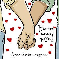 #autoajudadodia por Flávia Queiroz! A Flávia faz a página Eu Te Amo Hoje (https://www.facebook.com/EuTeAmoHoje) e aproveita pra nos lembrar que no amor vale tudo. O desenho é do Ivan Mola. Bonito, né?