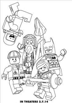 dibujos para imprimir de la lego pelicula. chulisimos. para entretener a los peques. http