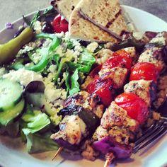 Zoës Kitchen in Phoenix, AZ – Gluten free kabobs, Greek salad and ...