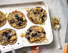 Socca with caramelised onions