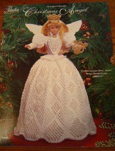 FREE victorian crochet doll pattern free | VICTORIAN CHRISTMAS ANGEL Crochet Barbie doll pattern by 2oldhaggs