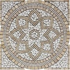 FLOORS 2000�36-in x 36-in Medallions Multi Colored Natural Stone Mosaic Floor Tile (Actuals 36-in x 36-in)