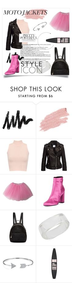 """""""motojackets."""" by fashionsensibility ❤ liked on Polyvore featuring Balmain, Jane Iredale, WearAll, Anine Bing, Yves Saint Laurent, STELLA McCARTNEY, INC International Concepts, Bling Jewelry and Maybelline"""
