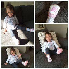 Béres Alexandra kislánya, Flóra masnis Szofi cipőben. Alexandra arra panaszkodott, hogy a korábbi puhatalpő cipőik talpa csúszott, így nagyon boldogok voltak a Szofi cipővel, ami nem csúszik :)