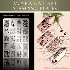 Need this plate! School Nails, Nail Art Stamping Plates, Press On Nails, Nude Nails, Gorgeous Nails, Cool Nail Art, Diy Nails, Beauty Nails, Nail Art Designs