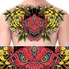 18 new Ideas for tattoo designs drawings chest piece Japan Tattoo Design, Tattoo Design Drawings, Tattoo Designs, Leg Tattoos, Sleeve Tattoos, Hanya Tattoo, Chrysanthemum Tattoo, Octopus Design, Japanese Dragon Tattoos