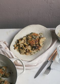 Almond-Crusted Chicken Piccata