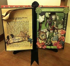 Clare made this beautiful altered Magic of Oz book! How amazing #graphic45