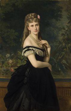 history-of-fashion:  1871 Michele Gordigiani - M.M. Berg, born Dolgorukaya