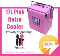 17L Pink Retro Cooler by #Kenzy #Retro #Cooler