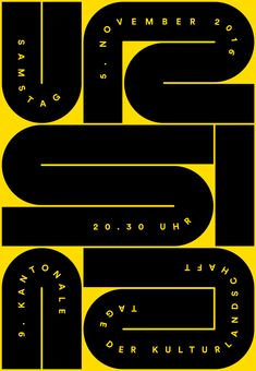 Typographical Posters for im Schtei on Behance
