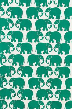 BEDROOM 2 Bedspread: Elephant Stamp Tapestry Throw in Green