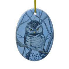 Winters Gaze Owl 2013 Collectible ornament