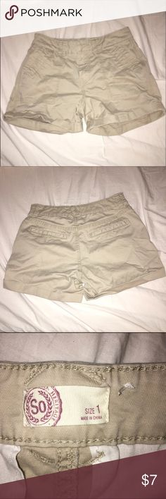 Khaki Shorts Cute comfortably sized khaki shorts Khols Shorts
