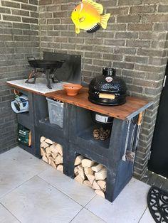 Outdoor Kitchen Patio, Outdoor Oven, Outdoor Kitchen Design, Rustic Outdoor, Outdoor Living, Grill Gazebo, Brick Bbq, Happy New Home, Backyard Bar