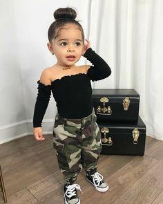Cute Mixed Babies, Cute Black Babies, Black Baby Girls, Cute Babies, Baby Swag Girl, Little Girl Swag, Stylish Baby Girls, Black Kids, Cute Little Girls Outfits