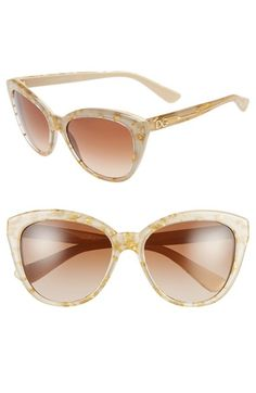 Dolce&Gabbana+56mm+Cat+Eye+Sunglasses+available+at+#Nordstrom