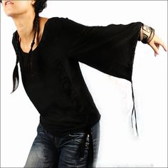 Luna blanca  blusa de seda Y1006 por idea2lifestyle en Etsy, $48.00