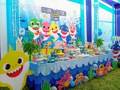 1 Birthday Girl Themes Boy Parties Ideas Baby Shark Doo Song Cake Party