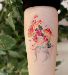 Red Ink Tattoos, Sweet Tattoos, Pretty Tattoos, Mini Tattoos, Cute Tattoos, Beautiful Tattoos, Flower Tattoos, Body Art Tattoos, Small Tattoos