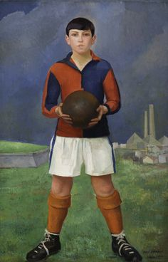 Young football player, 1926 by Angel Zárraga (Mexican 1886-1946)