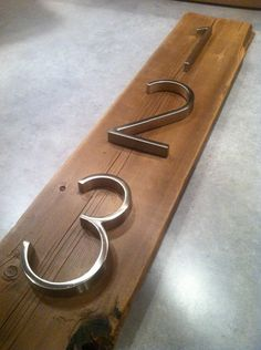 Modern Metal House Numbers mounted on by MidwestSalvageStudio, $30.00