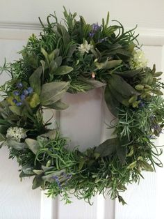 Etsy の Herbal Wreath by BlossomsTwo