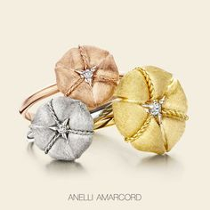 Nanis - Amarcord Collection - Yellow, pink and white gold with diamonds