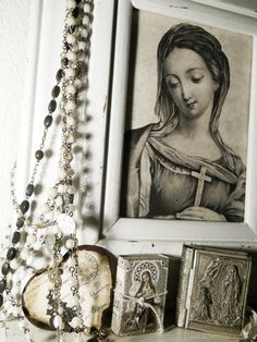 Blessed Mother Mary {vintage...and beautiful} possibly flash for tattoo