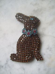 Vintage Chocolate Easter Bunny Rabbit Large by NewMoonMagick, $130.00