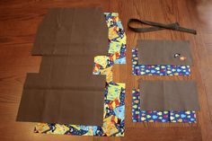 instructions and a free pattern to make a toddler sized messenger bag