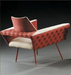 Interior design | decoration | home decor | furniture | Jean Royère; Armchair, 1960s.