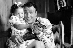Roy Rogers and his daughter Cheryl.......... so cute:) Roy is my favorite cowboy!!