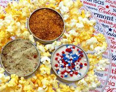 For the ultimate #popcorn fan, this gourmet spice kit offers a great selection of sweet, savory and spicy flavors, perfect for munching. The kit includes:    * Kettle corn classic  * Vietnamese cinnamon and spiced sugar  * Beer (yes...we're serious...beer)  * Hot chili  * County Fair Dill Pickle  * Spicy southern Cajun  * Butt-Kickin' BBQ  * Garlic and sour cream  * White cheddar  * Italian Parmesan  * Chocolate S'mores  * Amish caramel  * Spicy Jalapeno  * Bacon & Horseradish  * Lemon…
