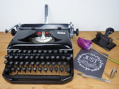 vintage typewriter Erika model 11 in good condition by mytypes on Etsy https://www.etsy.com/listing/231289276/vintage-typewriter-erika-model-11-in