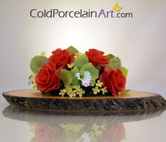 Cold Porcelain Art - Centerpieces - Red Roses 1.jpg (570×488)